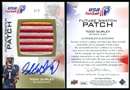 2012 Upper Deck USA Football Future Swatch Patch Autographs #FS47 Todd Gurley 1/2