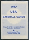1987 Pan Am Team USA Blue Baseball Factory Set Frank Thomas Rookie