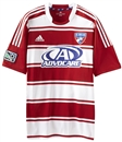 FC Dallas Adidas ClimaCool Red & White Replica Jersey