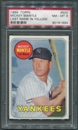 1969 Topps Baseball #500 Mickey Mantle Last Name In Yellow PSA 8 (NM-MT) *1884
