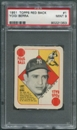 1951 Topps Red Backs Baseball #1 Yogi Berra PSA 9 (MINT) *1353