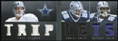 2012 Panini Playbook Material Playbook #19 Emmitt Smith Michael Irvin Troy Aikman 4/49