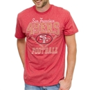 San Francisco 49ers Junk Food Heather Red Gridiron Tee (Adult Large)