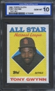 1988 Topps Cloth Baseball Tony Gwynn ISA 10 (GEM MINT) *3069 (Test Set)