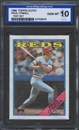 1988 Topps Cloth Baseball Paul O'Neill ISA 10 (GEM MINT) *3075 (Test Set)