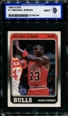 1988/89 Fleer Basketball #17 Michael Jordan ISA 9 (MINT) *0744