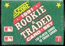 1991 Score Traded & Rookies Baseball Factory Set