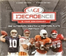 2007 Sage Decadence Football Hobby Box
