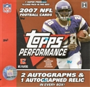 2007 Topps Performance Football Hobby Box
