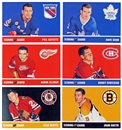1966/67 In The Game Parkhurst Hockey Original Six Scoring Leaders Reprint Set