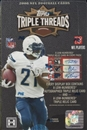 2008 Topps Triple Threads Football Hobby Box