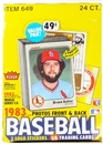1983 Fleer Baseball Cello Box