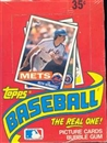 1985 Topps Baseball Wax Box