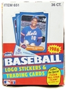 1986 Fleer Baseball Wax Box