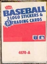 1987 Fleer Baseball Rack Box