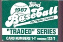 1987 Topps Traded & Rookies Baseball Factory Set