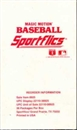 1989 Sportflics Baseball Wax Box