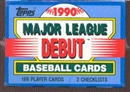 1990 Topps Debut Baseball Factory Set