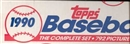 1990 Topps Baseball Factory Set (White Box)