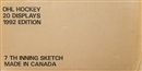 1991/92 7th Inning Sketch OHL Tomorrows Stars Today Hockey Hobby 20 Box Case