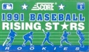 1991 Score Rising Stars Baseball Factory Set