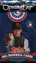 2011 Topps Opening Day Baseball Pack