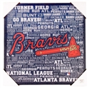 Atlanta Braves Artissimo Typography 13x13 Canvas