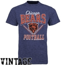 Chicago Bears Junk Food Heather Navy Gridiron Tee (Adult Large)