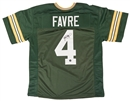 Brett Favre Autographed Green Bay Packers Green Football Jersey