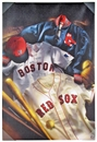 Boston Red Sox Artissimo Vintage Collage 24x36 Canvas