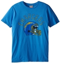 San Diego Chargers Junk Food Blue Kick Off Vintage Tee (Adult Large)