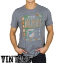 Miami Dolphins Junk Food Gray Touchdown Tri-Blend Tee (Adult Large)