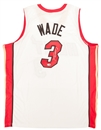Dwyane Wade Autographed Miami Heat White Basketball Jersey (Hollywood Collectibles)
