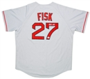 Carlton Fisk Autographed Authentic Boston Red Sox Jersey (Mounted Memories COA)