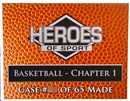 2013/14 Heroes of Sport Basketball Chapter 1 Hobby 3-Box Case