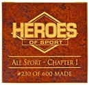 2013 Heroes of Sport: Empty Display Box /600