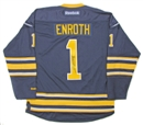 Image for  Jhonas Enroth Autographed Buffalo Sabres Blue Hockey Jersey