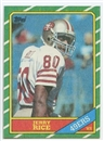 1986 Topps Football #161 Jerry Rice Rookie Card (NM or Better)