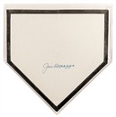 Joe Dimaggio Autographed New York Yankees Full Size Baseball Home Plate JSA