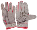 Joey Votto Cincinnati Reds Game Used & Autographed Batting Gloves (PSA)