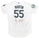 Russell Martin Autographed Los Angeles Dodgers Authentic Jersey (Slightly Dirty)
