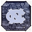 North Carolina Tar Heels Artissimo Typography 13x13 Canvas