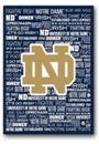 Artissimo Notre Dame Football Typography 13x13 Canvas