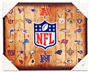 Artissimo NFL Barnwood Team Collage 16x20 Canvas