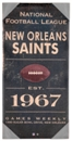 New Orleans Saints Artissimo Vintage Sign 24x12 Canvas