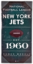 New York Jets Artissimo Vintage 24x12 Canvas