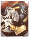 Artissimo New York Yankees Jersey Collage 16x20 Canvas