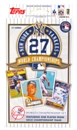 2010 Topps New York Yankees Baseball 27 World Championships Set