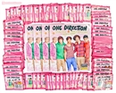 Panini One Direction Sticker Closeout Lot (4 Albums & 100 Packs = 2 Boxes!)