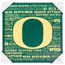 Oregon Ducks Artissimo Typography 13x13 Canvas